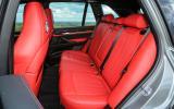 BMW X5 M rear seats