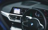 Britain's Best Car Awards 2020 - BMW 330e cabin