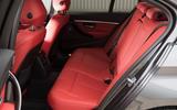 2017 BMW 330e - rear seats