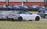 BMW 4 Series Convertible static spyshot rear