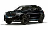 BMW iX3 black front side