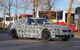 BMW M3 test mule side