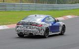 BMW M4 2020 spyshots rear side track