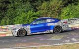 BMW M4 2020 spyshots side on