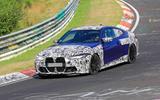 BMW M4 2020 spyshots front corner