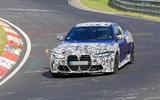 BMW M4 2020 spyshots front on corner