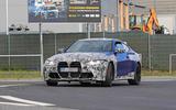 BMW M4 2020 spyshots front side road