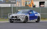 BMW M4 2020 spyshots front road