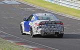BMW M4 2020 spyshots rear track