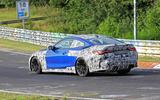 BMW M4 2020 spyshots side 3/4 track