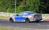 BMW M4 2020 spyshots side track
