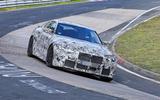 BMW M4 spyshots Nurburgring front 3/4 carousel