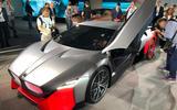 BMW Vision M next reveal doors open