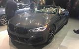 BMW 8 Series convertible at LA motor show - front