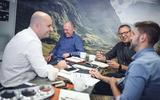 Adam Donfrancesco, Ian Callum, Tom Bird and David Fairbairn