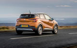Renault Captur 2020 UK first drive review - tracking rear