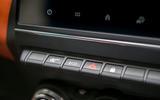 Renault Captur 2020 UK first drive review - hazard buttons
