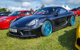 PORSCHE CAYMAN: Unremarkable in this company... expect for one detail