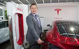 Elon Musk reveals UK's first supercharger charging point