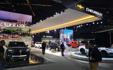 LA motor show Chevrolet stand
