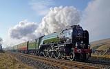 Tornado steam locomotive at speed