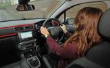 Rachel Burgess driving the Citroën C3