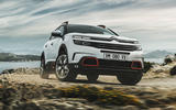 Citroen C5 Aircross 2018 European launch on the road cornering