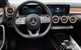 Mercedes CLA leaked image by Redline interior