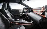 Mercedes CLA leaked image by Redline front cabin