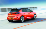 2020 Vauxhall e-Corsa driving - rear
