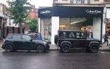 Mini Countryman and Land Rover Defender