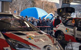 The World Rally Championship lets fans get closer to the cars than many other series