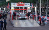 Rallye Monte Carlo is go: Sebastien Ogier drives across the start ramp to begin a new campaign with Toyota GAZOO Racing