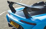 Dallara Stradale 2019 UK first drive review - spoiler rear