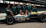 Clark with the Lotus team