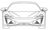 2020 McLaren Sports Series hybrid design patent