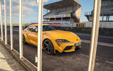 Even behind bars, there's no holding back the performance and style of the Toyota GR Supra