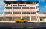 The classic pitlane at Reims is well worth exploring on a French road trip – even if you're not in a standout sportscar like the Toyota GR Supra