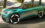Volkswagen ID 3 convertible render