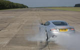 Aston Martin DBS burnout - rear