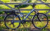 Frame is made from aluminium; the medium-sized bike's 25.5kg weight can be prohibitive