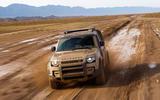 2020 Land Rover Defender reveal - off-roading front