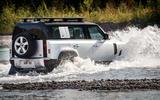 2020 Land Rover Defender reveal - wading rear