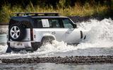 Land rover Defender offroad wading