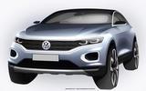 Volkswagen T-Roc: new sketch shows Qashqai rival's details