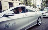 Daimler CEO Dieter Zetsche driving a Mercedes-Benz CLA