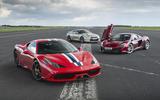 Ferrari 458 Speciale, Nissan GT-R, McLaren 650S