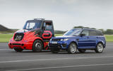 Range Rover Sport SVR and racing truck