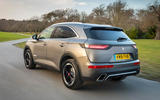 DS 7 Crossback BlueHDi 180 Performance Line 2018 review hero rear