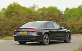 Audi S8 rear cornering